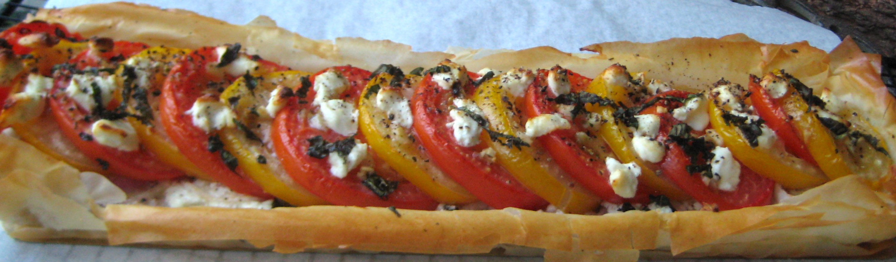 Tomato and Goat Cheese Tart | Urban Cottage Life