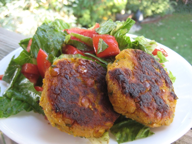 Butternut Squash & Chickpea Cakes | © Life Through the Kitchen Window.com