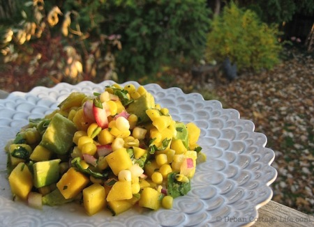 Mango Corn Salsa | © Urban Cottage Life.com