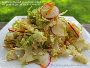 Southwest Shaved Cauliflower Salad | © Life Through the Kitchen Window