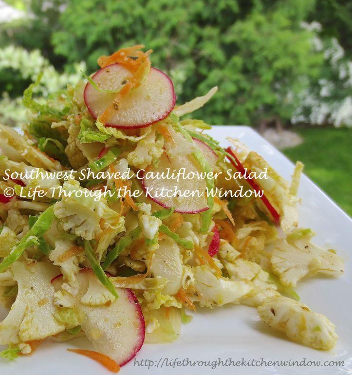Southwest Shaved Cauliflower Salad | © Life Through the Kitchen Window