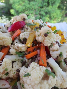 Asian-Inspired Cauliflower & Beluga Lentil Salad | © Life Through the Kitchen Window