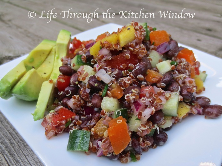 Red Quinoa & Black Bean Salad with Mango | © Life Through the Kitchen Window