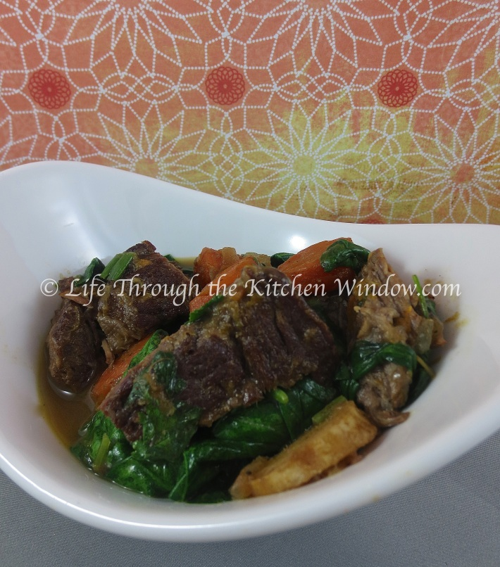 Orange Ginger Beef Stew with Chinese Five Spice | © Life Through the Kitchen Window.com
