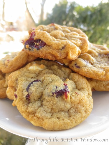 Cranberry White Chocolate Cookies | © Life Through the Kitchen Window.com