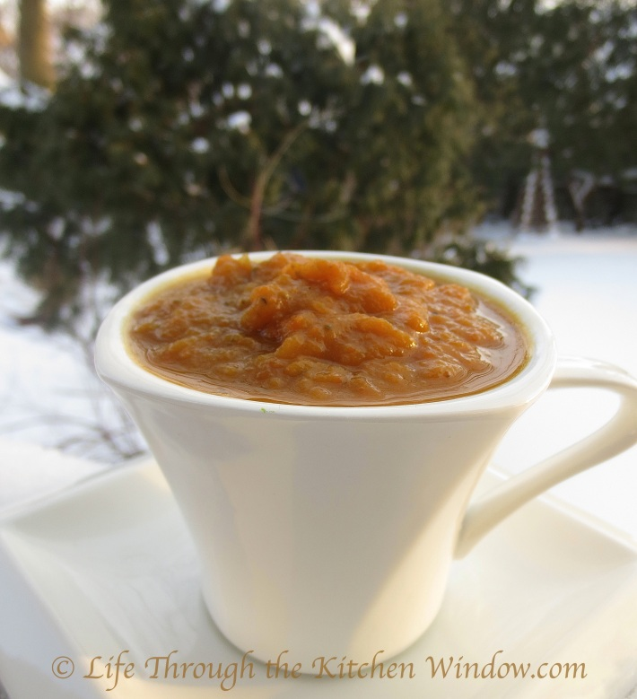Carrot, Squash & Apple Soup | © Life Through the Kitchen Window.com