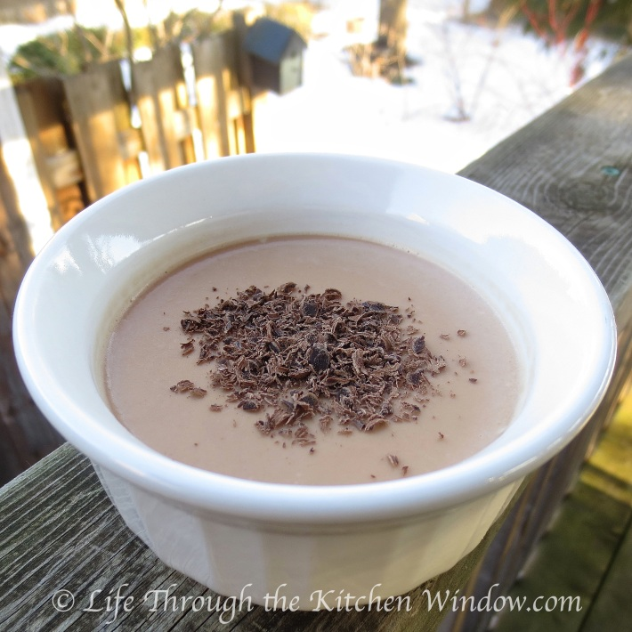 Milk Chocolate Panna Cotta | © Life Through the Kitchen Window.com