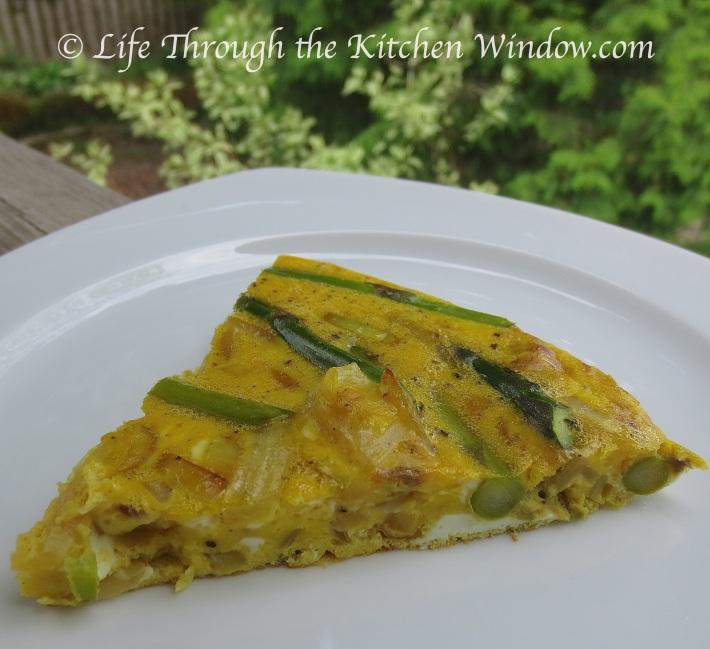Asparagus & Onion Frittata | ©Life Through the Kitchen Window.com