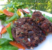 Black Bean & Sweet Potato Cakes |© Life Through the Kitchen Window.com
