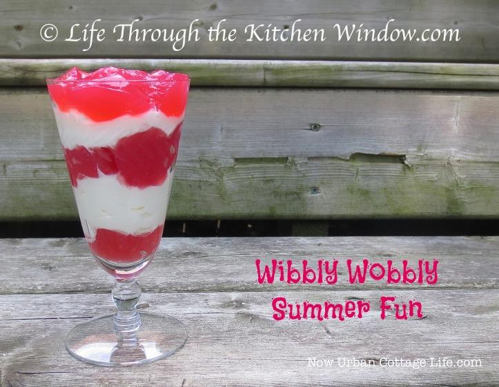 Wibbly Wobbly Rhubarb Jelly |© UrbanCottageLife.com