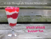 Wibbly Wobbly Fun - Rhubarb Jelly & Cream | © Life Through the Kitchen Window.com