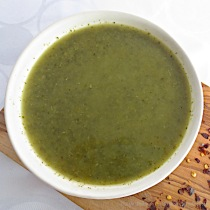 Kale Soup with Ginger & Lemon | © Life Through the Kitchen Window.com