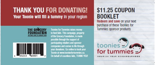 Toonies for Tummies 2015 Coupon Book