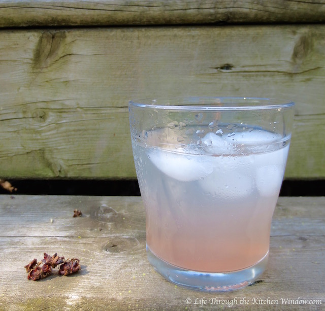 Rhubarb Syrup-Infused Water | © Life Through the Kitchen Window.com
