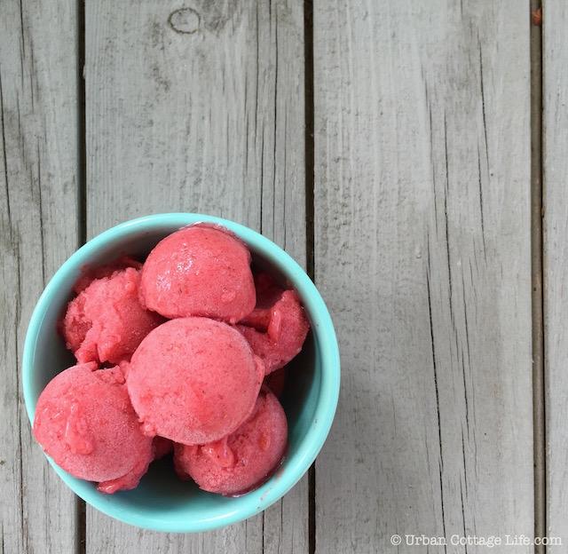 Strawberry Mint Nice Cream | © Urban Cottage Life.com